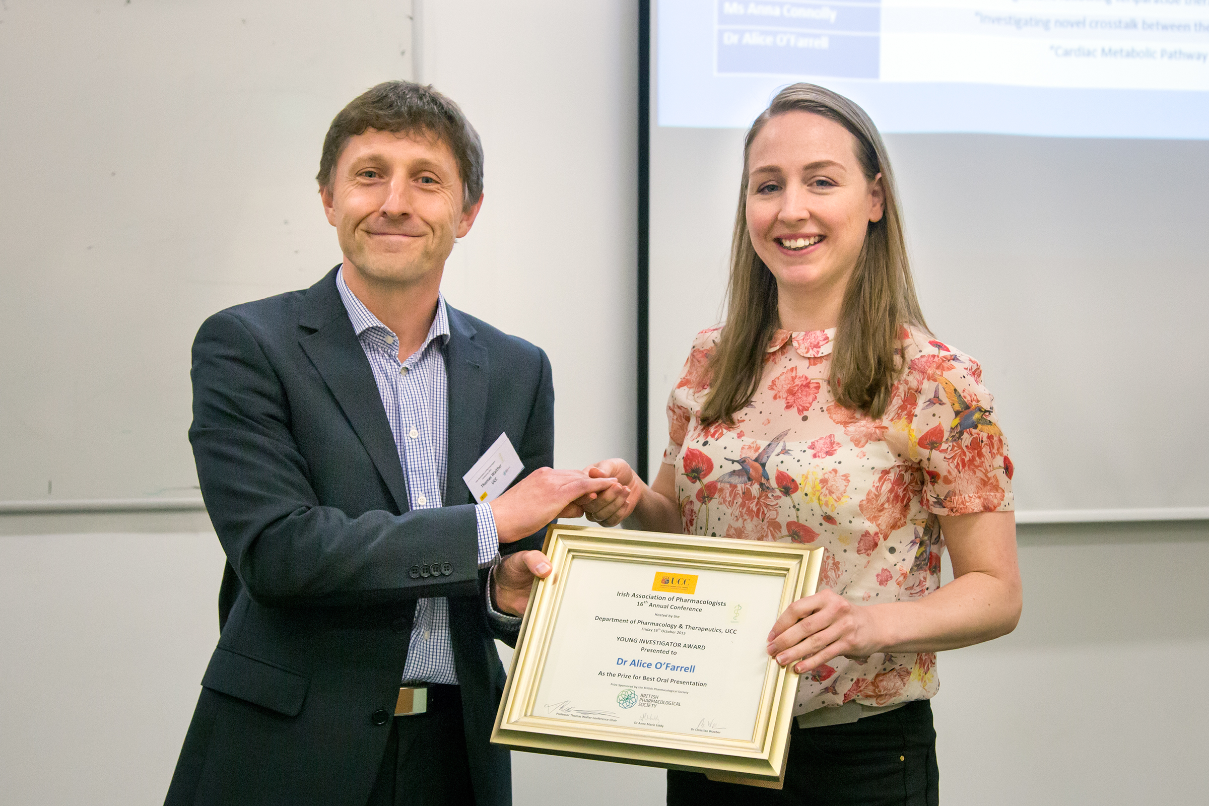 Irish Association of Pharmacologists Annual Meeting - Oral presentation prize (2)